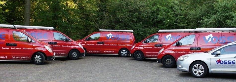 Bedrijfsauto's van loodgietersbedrijf Vosse in Alkmaar