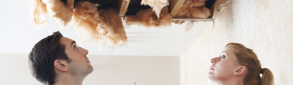 kapot plafond door lekkage